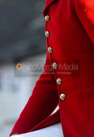 Huntsman wearing Cottesmore Hunt Buttons