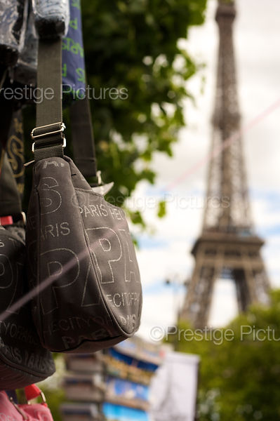 Souvenir Handbag CLose to the Eiffel Tower