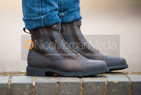 equestrian style jodhpur boots - royalty free image