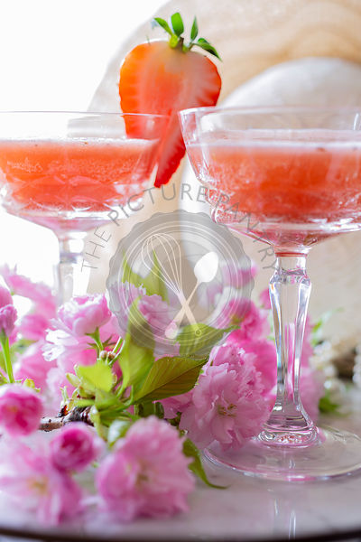 Strawberry Rhubarb Cocktail