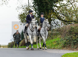 Charlotte Farmer-Day and Tilda Farmer - The Cottesmore Hunt at Tilton on the Hill, 9-11-13