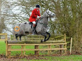 Andrew Osborne MFH jumping a hunt jump at Pickwell Manor 21/12