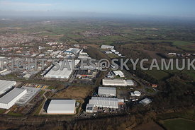 Crewe aerial photograph of Crewe Industrial Estate Weston Road and University Way