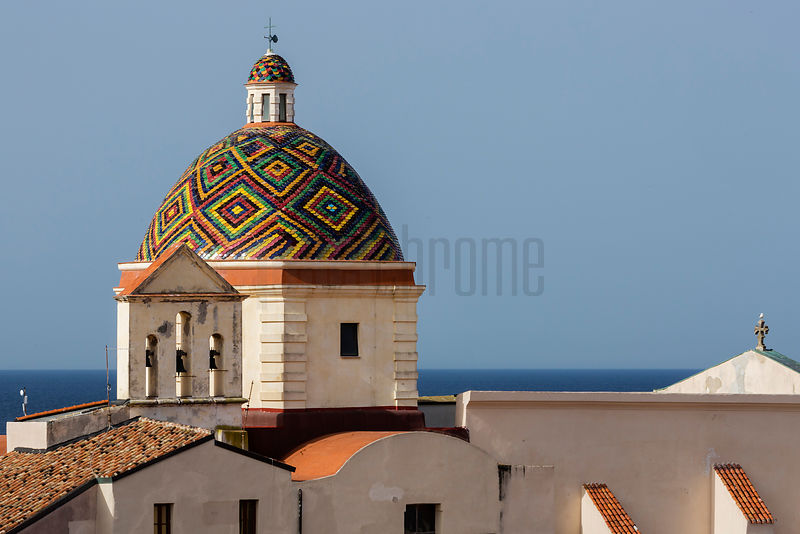Majolica Tiled Cupola Of Jesuit Church Of San Michele