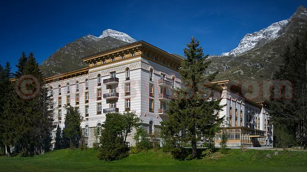 The Maloja Palace Hotel of owner Amedeo Clavarino of Milano Photo Foto