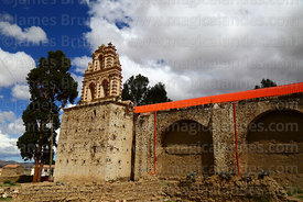 Abandoned colonial church at Belén, Potosí Department, Bolivia