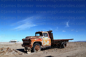 Abandoned vintage Chevrolet truck on outskirts of Colchani, near Uyuni, Bolivia
