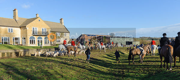 The meet at Town Park Farm