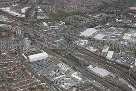 Alexandra Stadium Crewe railway Station and Weston road industrial Estate