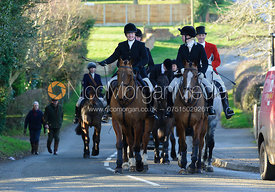 Followers on their way to the meet - The Belvoir Hunt at Stonesby, 19/12