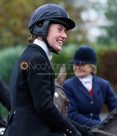 Chloe Newton at the meet - The Cottesmore at Knossington 22/11