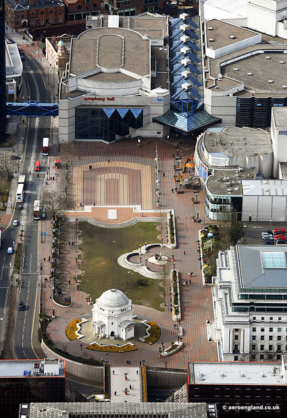 aerial photograph of Centenary Square Birmingham, West Midlands England UK