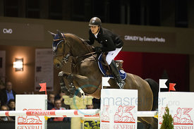 Bordeaux, France, 3.2.2018, Sport, Reitsport, Jumping International de Bordeaux - Prix HOTEL BURDIGALA .Trophée BORDEAUX METROPOLE. Bild zeigt Julien GONIN (FRA) riding Une Etoile Landaise (5*)...3/02/18, Bordeaux, France, Sport, Equestrian sport Jumping International de Bordeaux - Prix HOTEL BURDIGALA .Trophée BORDEAUX METROPOLE. Image shows Julien GONIN (FRA) riding Une Etoile Landaise (5*).