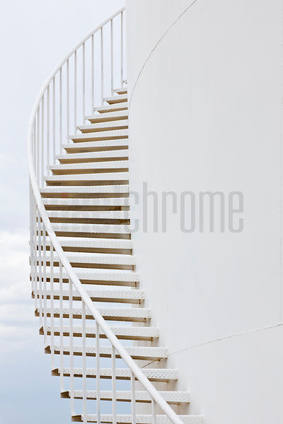 Stairs going up the Side of a Water Storage Tank