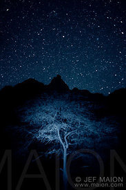 Stars above mountain