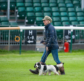 Overnight Leader Ruth Edge - dressage phase,  Land Rover Burghley Horse Trials, 30th August 2012.