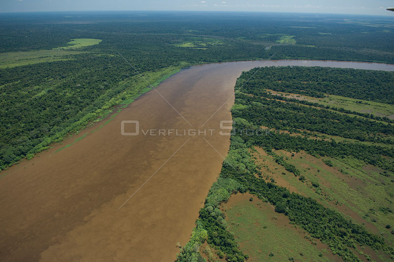 "Aerial view of amazon ""várzea"" flooded Rainforest of the Mamoré River, during the great flood of 2008, at the border of Brazil (Rondônia State) with Bolivia (Beni Department)."