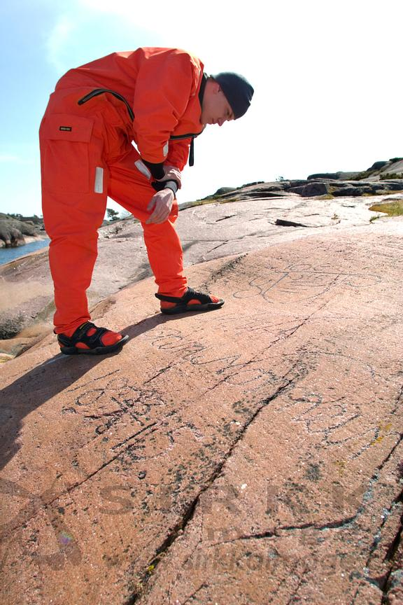 Pike´s Gut, guestbook of archipelago, was used as sheltering harbour from the 15th century and there is over 600 different aged carvings.