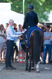 Rolf-Göran Bengtsson  retires  Casall Ask at the Longines Global Champions Tour Grand Prix in Hamburg.