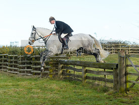 Nick Wright jumping a hunt jump at Hill Top Farm