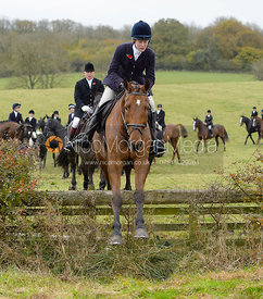 Willa Newton jumping a fence at second horses - The Cottesmore at The Fox and Hounds