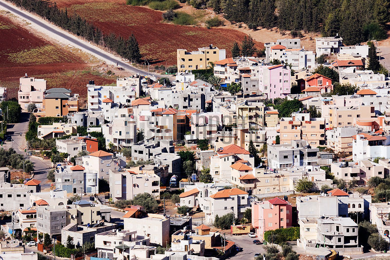 Daburiyya Arab Village at the foot of Mount Tabor in the Lower Galilee,  and Jezreel Valley