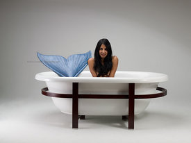 Mermaid in bathtub