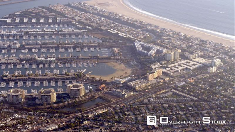 Aerial View Of Marina Del Rey, RED R3D 4k California