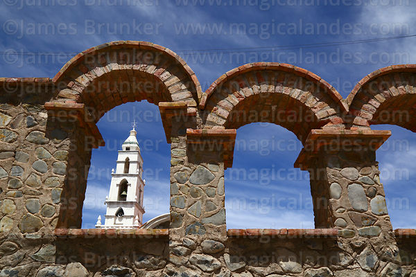Tower of Sanctuary of the Señor de Quillacas, Quillacas, Oruro Department, Bolivia