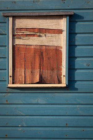 Detail from a beach hut in Southwold.