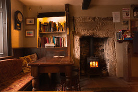 Red Lion Litton tap room  fireplace