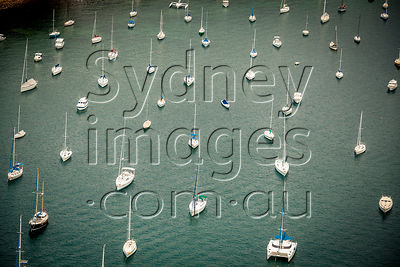 Yachts Moored on Pittwater