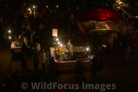Food stalls in the Djemaa el-Fna, Morocco; Landscape