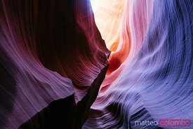 Rock formations, Lower Antelope canyon, USA