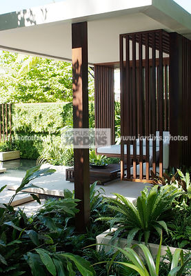 Asiatic garden, Contemporary furniture, Exotic garden, Garden construction, Garden furniture, Resting area, Tropical garden, Malaysian garden,