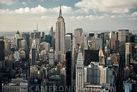 Aerial of Midtown Manhattan in the afternoon