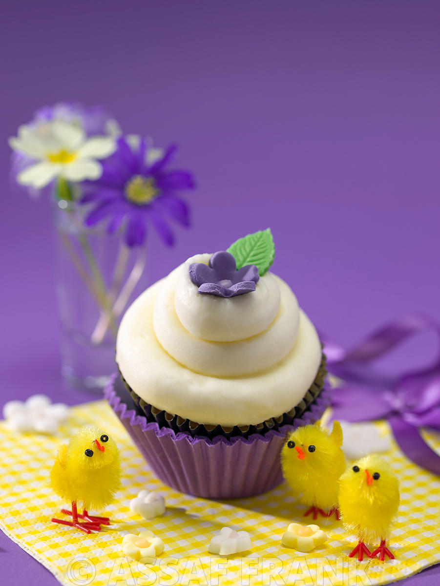 Beautifully decorated cupcake