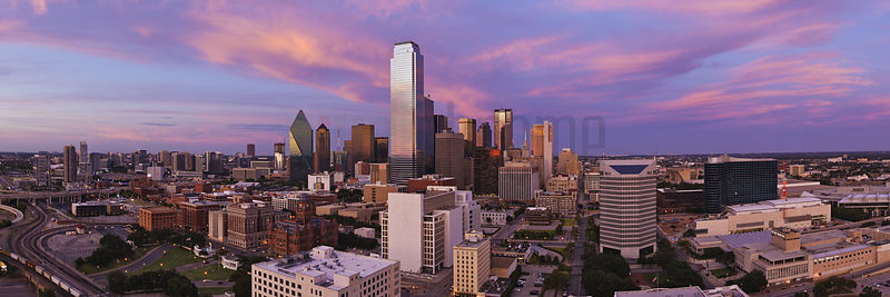 Dallas Skyline at Dusk.