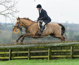 Timmy Edwards jumping a hunt jump at Baggrave Hall