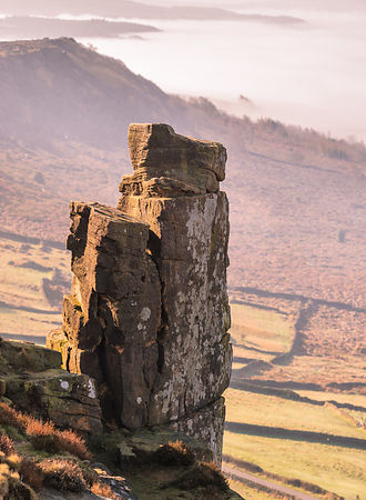 Pinnacle rock, Curbar Edge