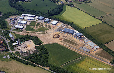 AERIAL PHOTOGRAPH OF BEACON PARK ENTERPRISE ZONE GREAT YARMOUTH
