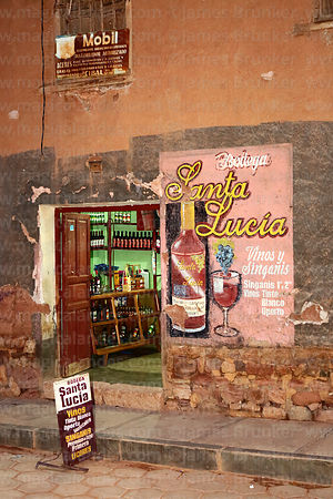 Bodega Santa Lucia wine and singani shop, Camargo, Chuquisaca Department, Bolivia
