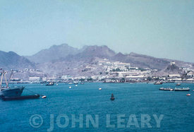 Port of Aden from the Harbour looking towards Steamer Point.