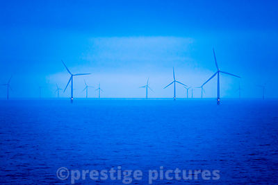 Gunfleet Sands Offshore Wind Farm at  Dusk
