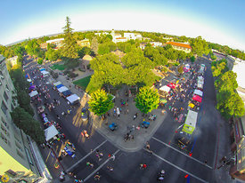 Aerial View of Chico's Thurday Market #5