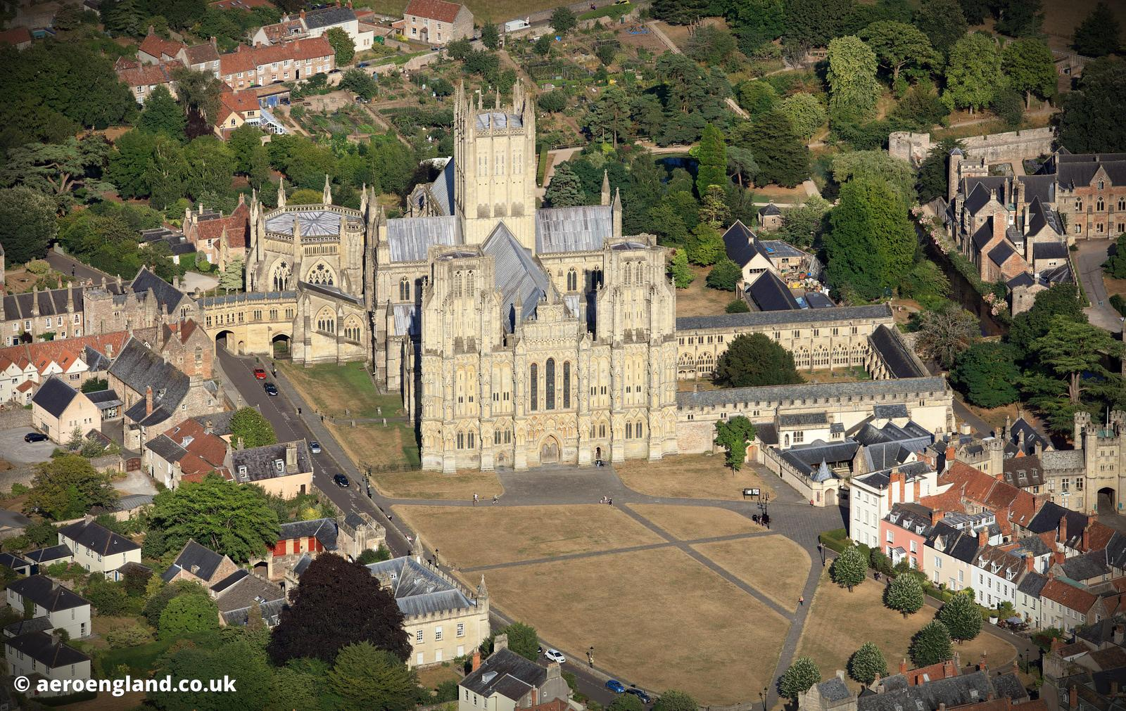 Wells Cathedral aerial photograph