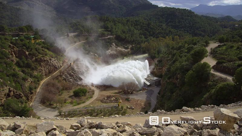 Water release from a dam in Spain, Andalusia