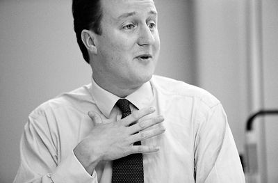 David Cameron, Conservative Party Leader and Conservative MP for Whitney, Oxfordshire, UK
