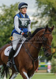 Kristina Cook and DE NOVO NEWS - cross country phase,  Land Rover Burghley Horse Trials, 7th September 2013.