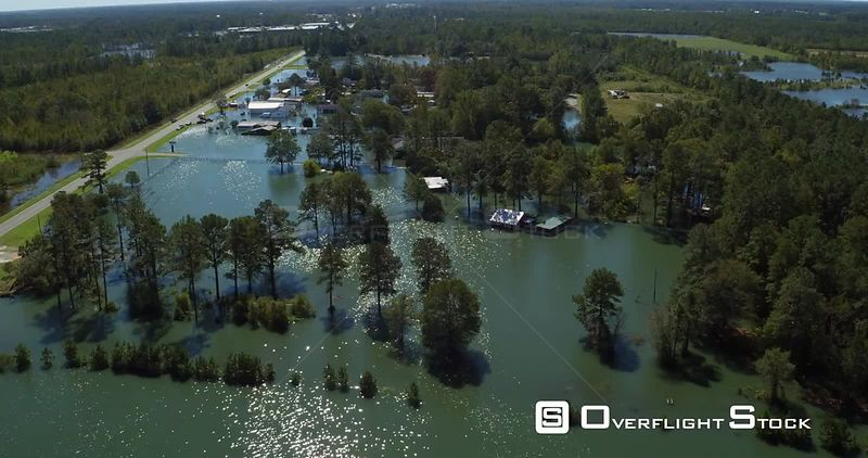 Flooding and Storm Aftermath of Hurricane Matthew 2016 in North Carolina